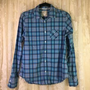 American Eagle Outfitters Plaid Long Sleeve Blouse